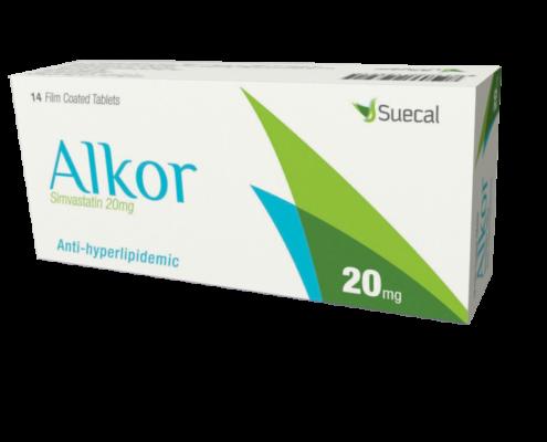 Alkor 20 mg 14 tablets box