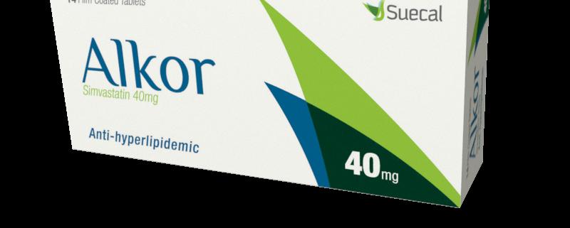 Alkor 40 mg 14 tablets box